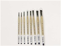 DAS 9680 White Taklon Brushes