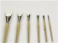 DAS 9850 White Taklon Brushes