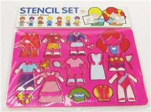 STENCIL SET-FASHION DESIGN