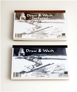 AS DRAW & WASH PAD TEXT 340X475 (20SHT)