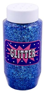 CONFETTI GLITTER 250ml JAR BLUE