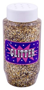 CONFETTI GLITTER 250ml JAR GOLD