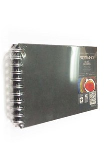 SPIRAL BLK DRAWING BOOK A5L 190gsm (40sh