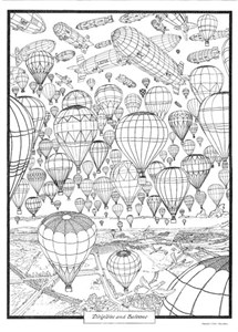 COOL ART DOODLE POSTER BALLOONS