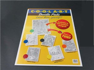 COOL ART DOODLE PAD A2 YELLOW (rainfores