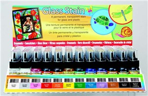 GLASS STAINS 1oz RED