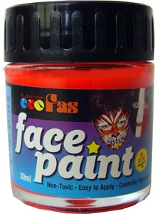 FAS FLUO FACE PAINT 30ml RED