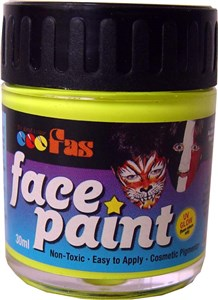 FAS FLUO FACE PAINT 30ml YELLOW