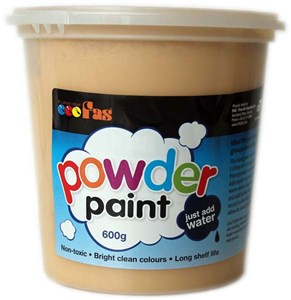 FAS SCHOOL TEMPERA POWDER 600gm OCHRE