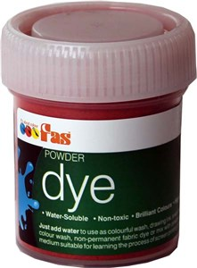 FAS WATERSOLUBLE DYE 30gm BRILL RED