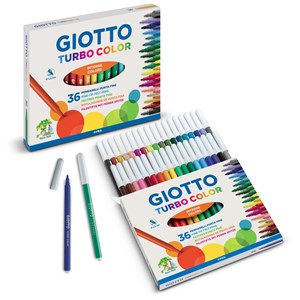 GIOTTO TURBO COLOUR FELTS HANGCELL 12's
