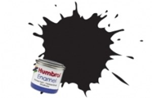HUMBROL ENAMEL BLACK GLOSS 50ml