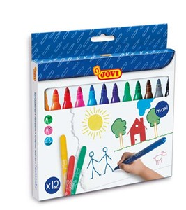 JOVI WASHABLE MAXI FELT-TIP PEN 12s