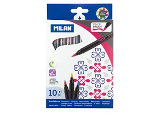 Milan Brush-tipped Fibrepen Set 10