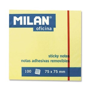 Milan Sticky Notes 75x75 Standard Yellow