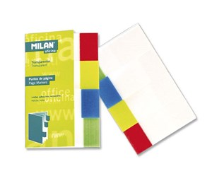 Milan Sticky Notes Transparent Bookmarks