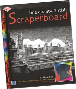 BLACK SCRAPERBOARD 610 x 502mm